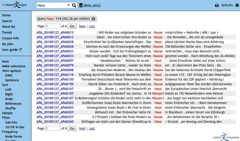 Screenshot of no-sketch engine